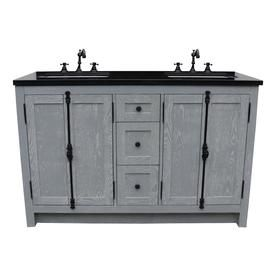 Bellaterra Home Lv0100 55 Gya Bg Double Vanity 55 In Gray Ash