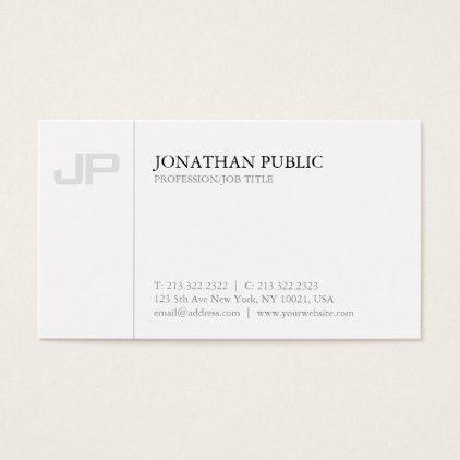Artistic Monogram Plain Creative Design Luxury Business Card