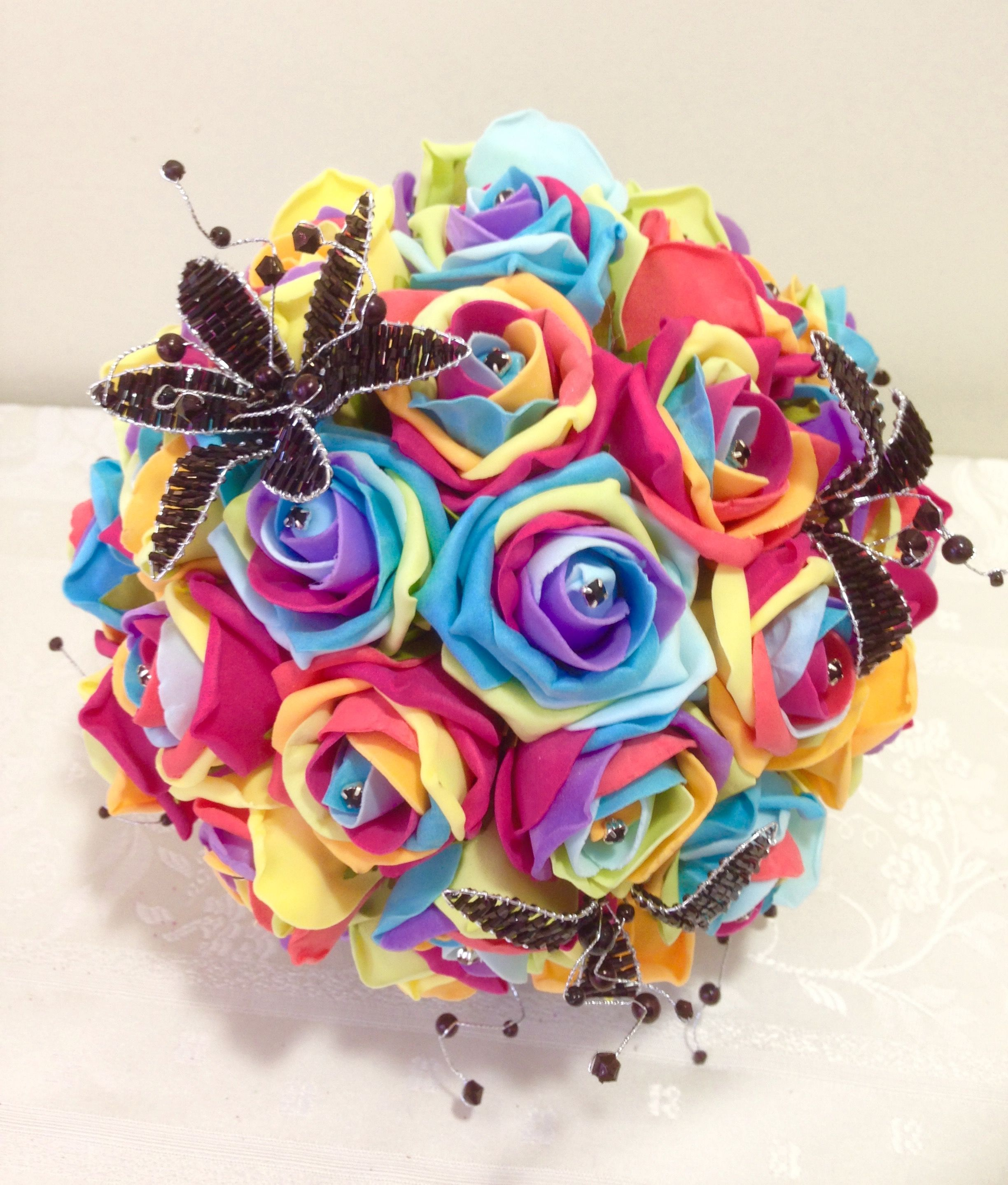 A Firm Favourite This Wedding Season Using The Fabulous Rainbow Roses With Hint Of