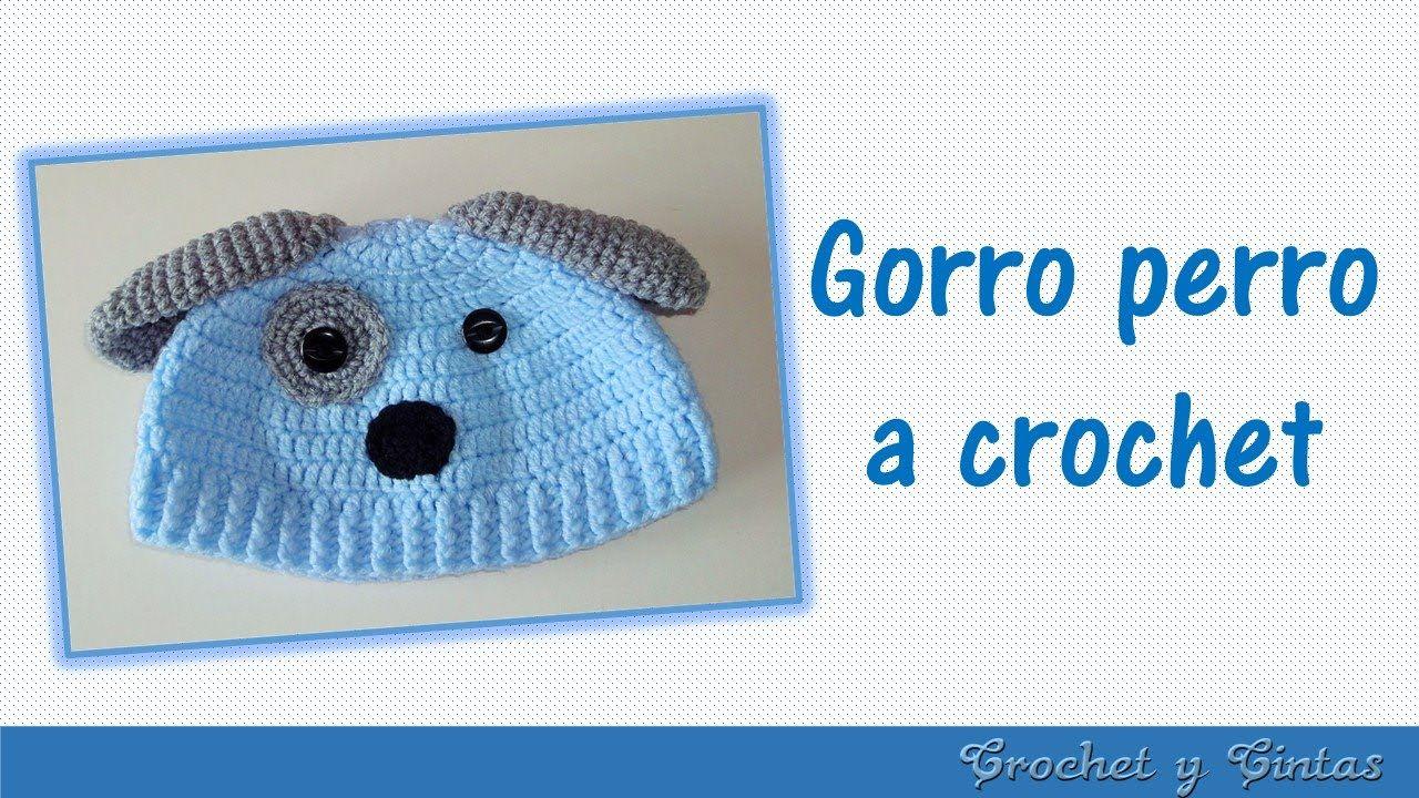 Gorro perrito tejido a crochet para niños - YouTube | cat crochet ...