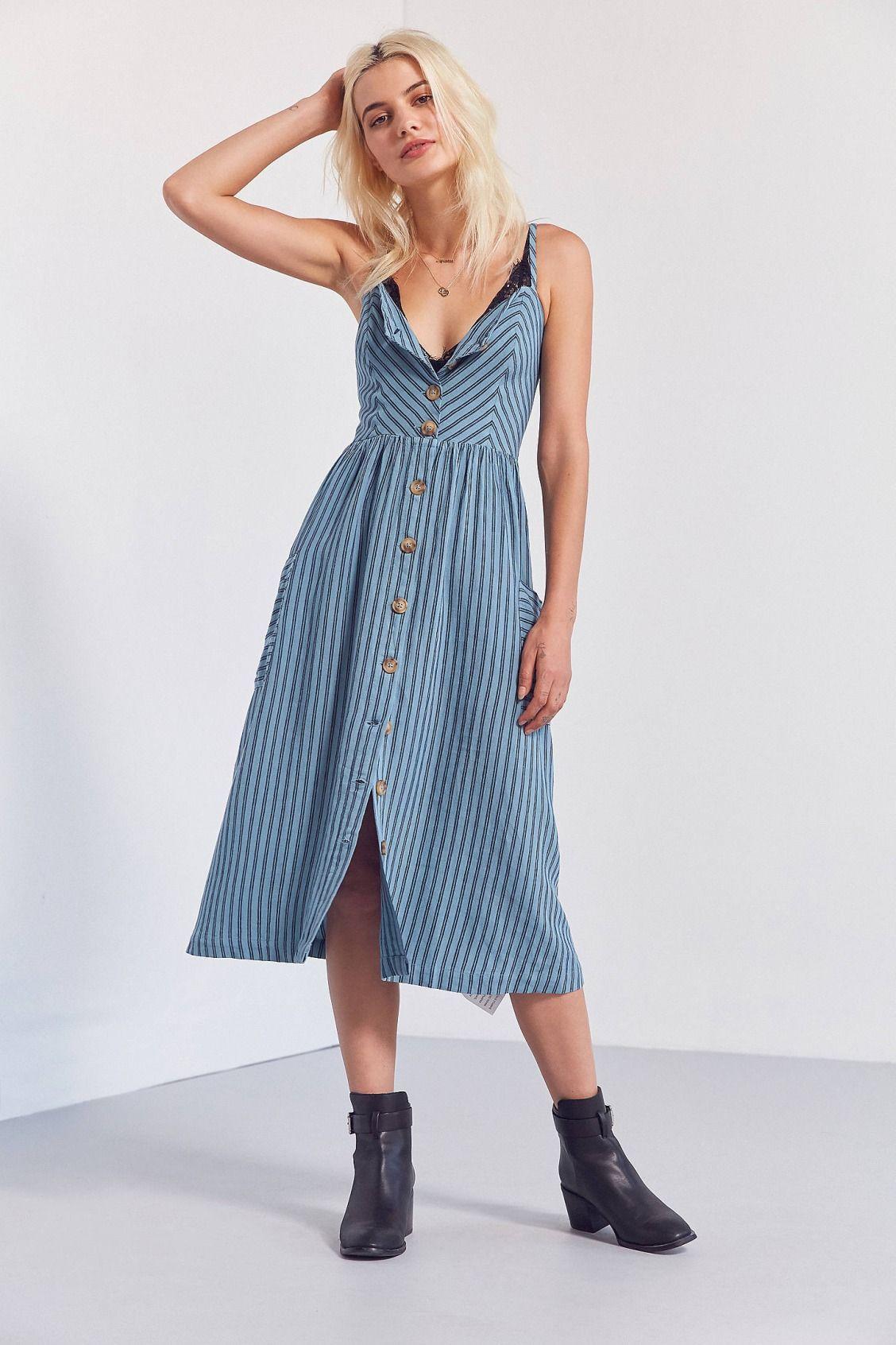 19f5a9ddcf4 Cooperative Emilia Printed Linen Button-Down Midi Dress