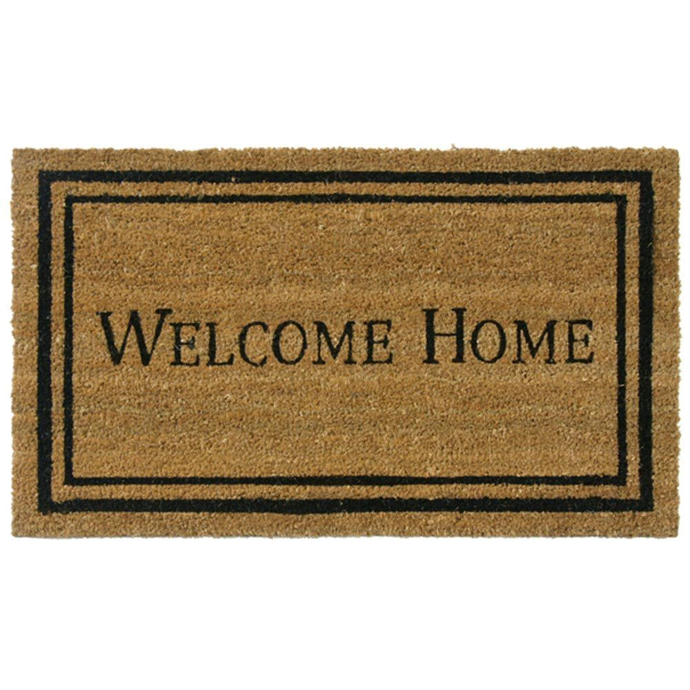 Rubber Cal Contemporary Welcome Home Mat 18 X 30 Contemporary