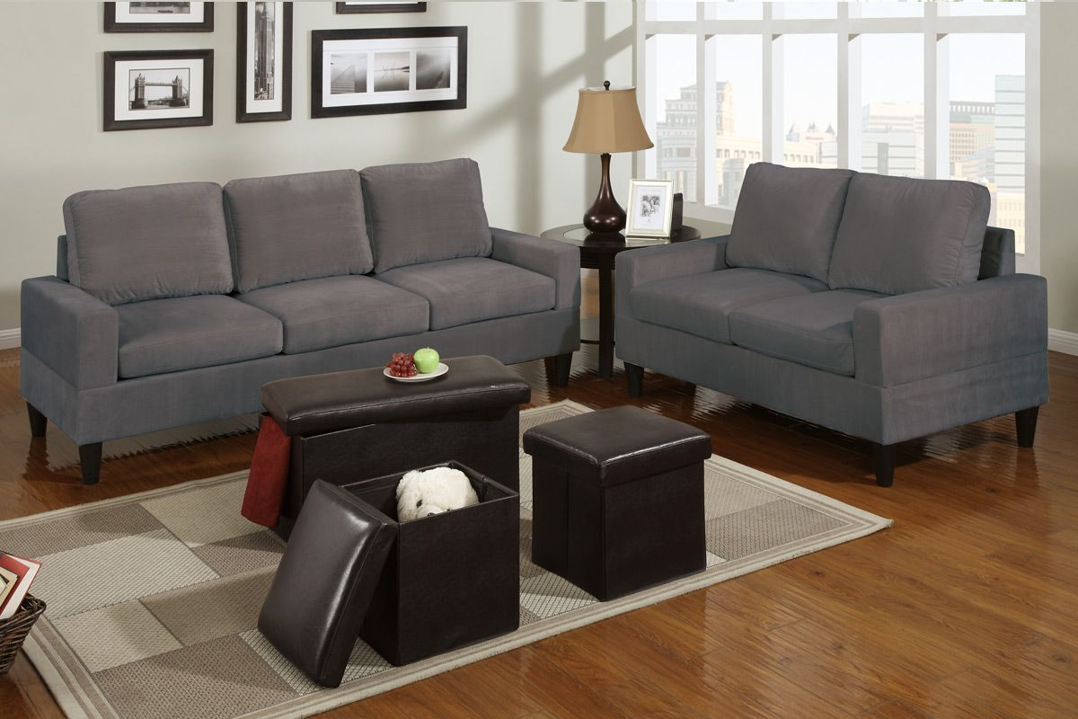 Grey Microfiber Sofa Set Best Sofas Ideas