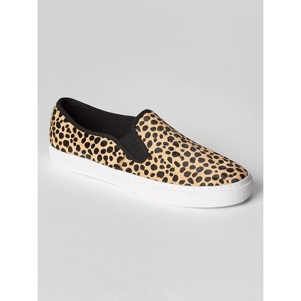 cb08b9e78f4 Gap Women Calf Hair Slip On Sneakers (87 CAD) ❤ liked on Polyvore featuring  shoes