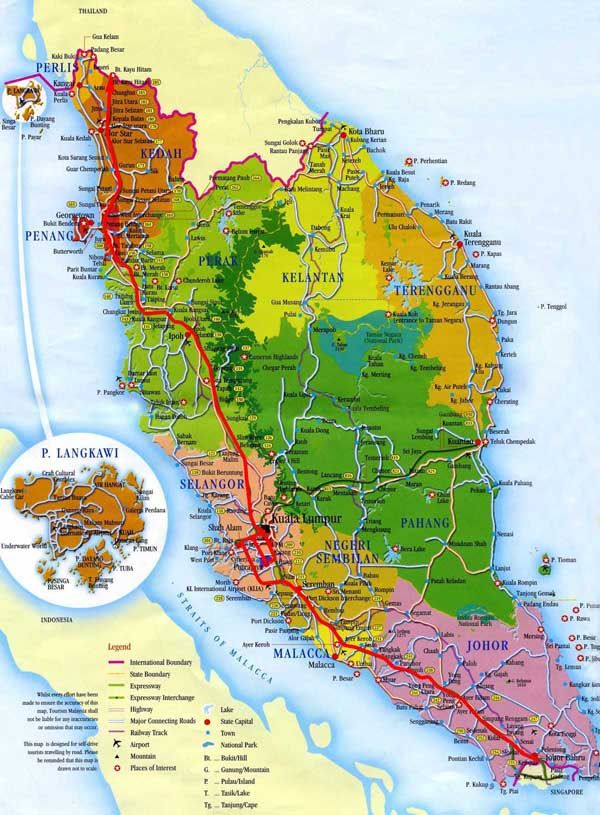Administrative of West Malaysia Malaysia Southeast Asia
