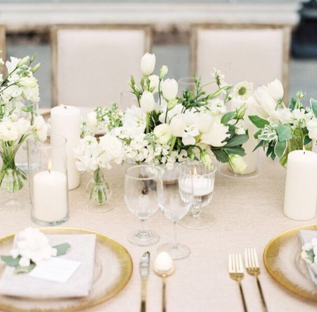 Gold & White Table Setting for wedding reception | WEDDING: table ...