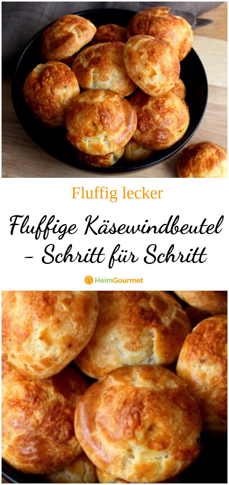 Fluffige KÄSEWINDBEUTEL - tolle Idee für Picknick, Partybuffet oder Snack zwischendurch!