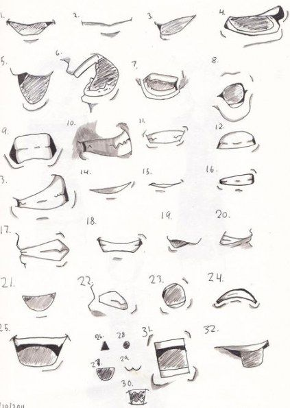 New Drawing Anime Mouths Lip Tutorial 42 Ideas Drawing Anime