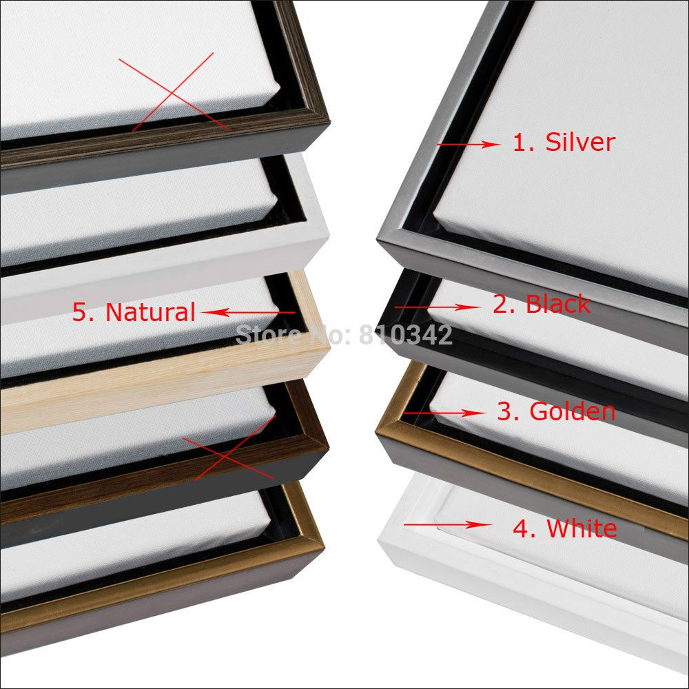 Floating wooden Frame for oil paintings and prints black frames five ...