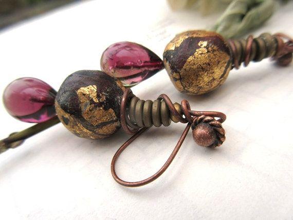 Parcelles d'Or : boucles d'oreilles tribales par annemarietollet