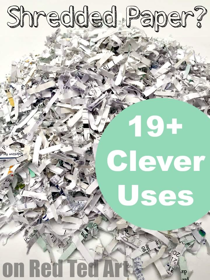 Uses for shredded paper