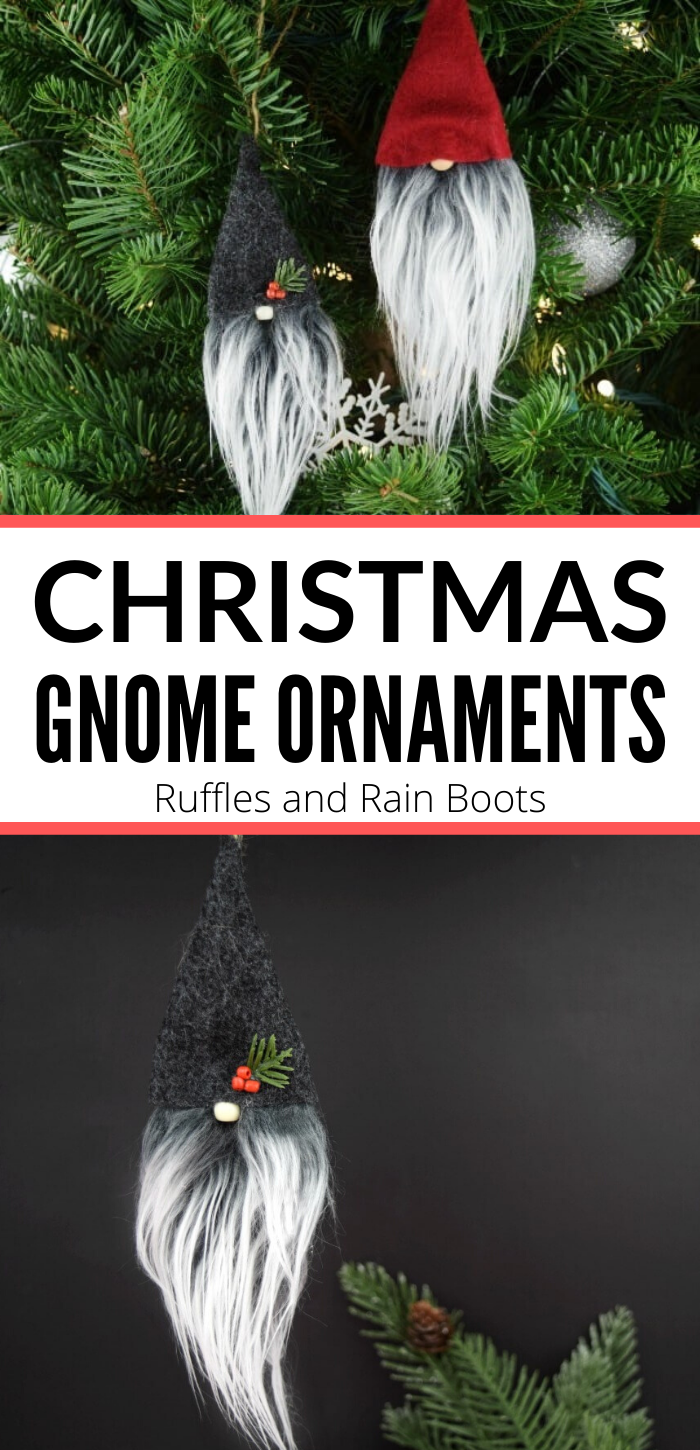 Christmas Gnome Ornaments A Quick Adorable Craft Christmas Gnome Gnome Ornaments Gnomes