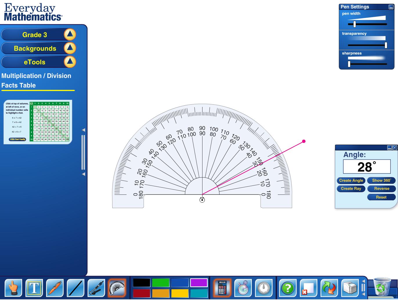 Everyday Mathematics A Good Set Of Virtual Tools A