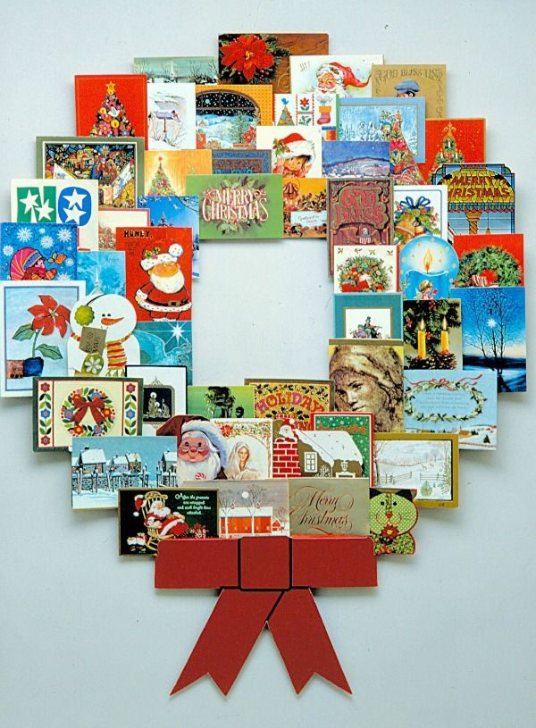 Christmas card wreath holder | Christmas Card Display Ideas ...