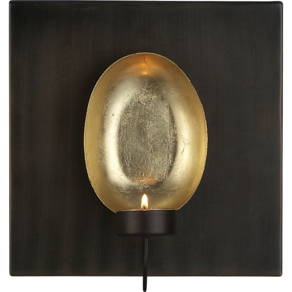 Tuvala Wall Sconce In Candleholders Crate And Barrel