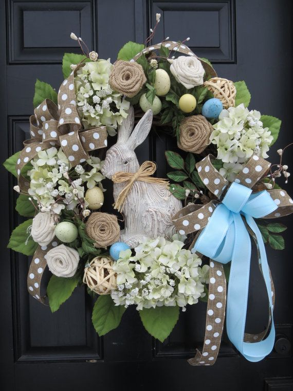 Easter Door Wreaths, Easter Bunny Wreaths, Easter Front Door Wreath ...