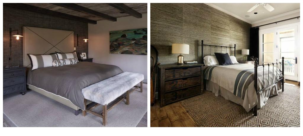 Idées et photos pour une chambre de style moderne rustique | Décor ...