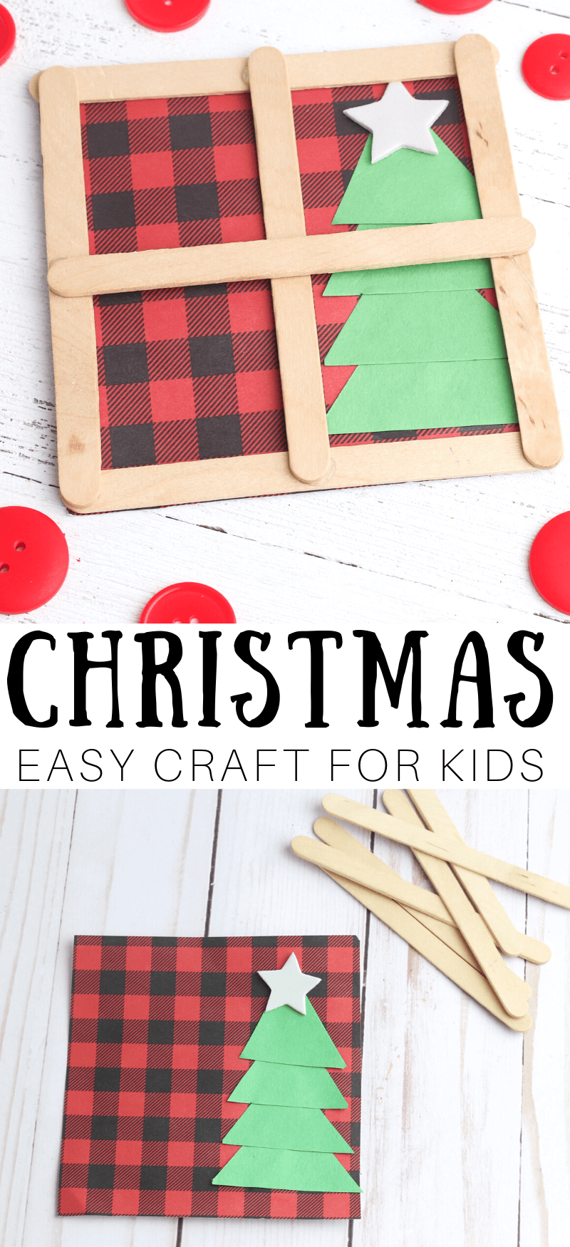 Popsicle Stick Craft Window For Christmas #popciclesticks