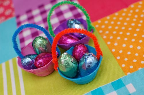 Know what's cuter than Easter baskets?? Teensy Tiny Easter Baskets filled with little chocolate eggs!!!