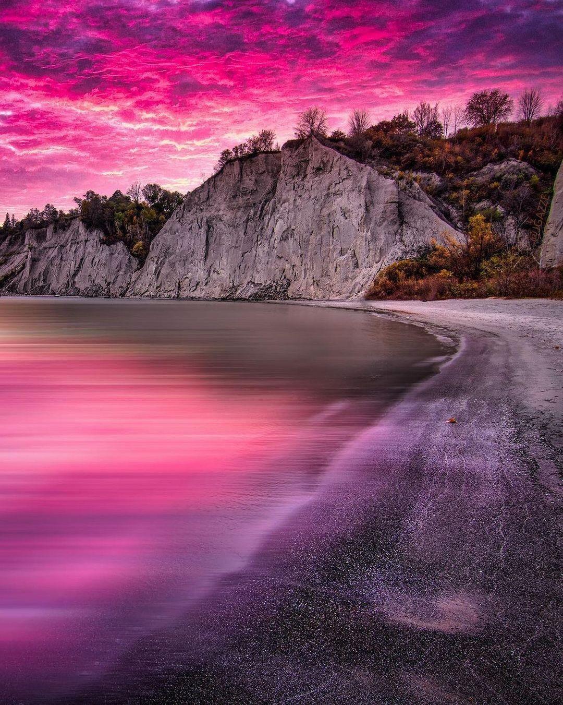 "blogTO on Instagram: ""Pretty in pink 💞 #Toronto #Scarborough #ScarboroughBluffs #TheBluffs #Pink #exploreTO - 📸 @jgazze"""