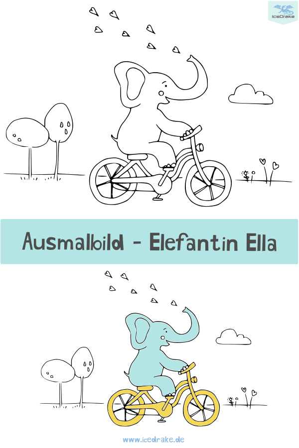 Ausmalbild Elefant Ella Ausmalbilder Malvorlagen Mandala Für