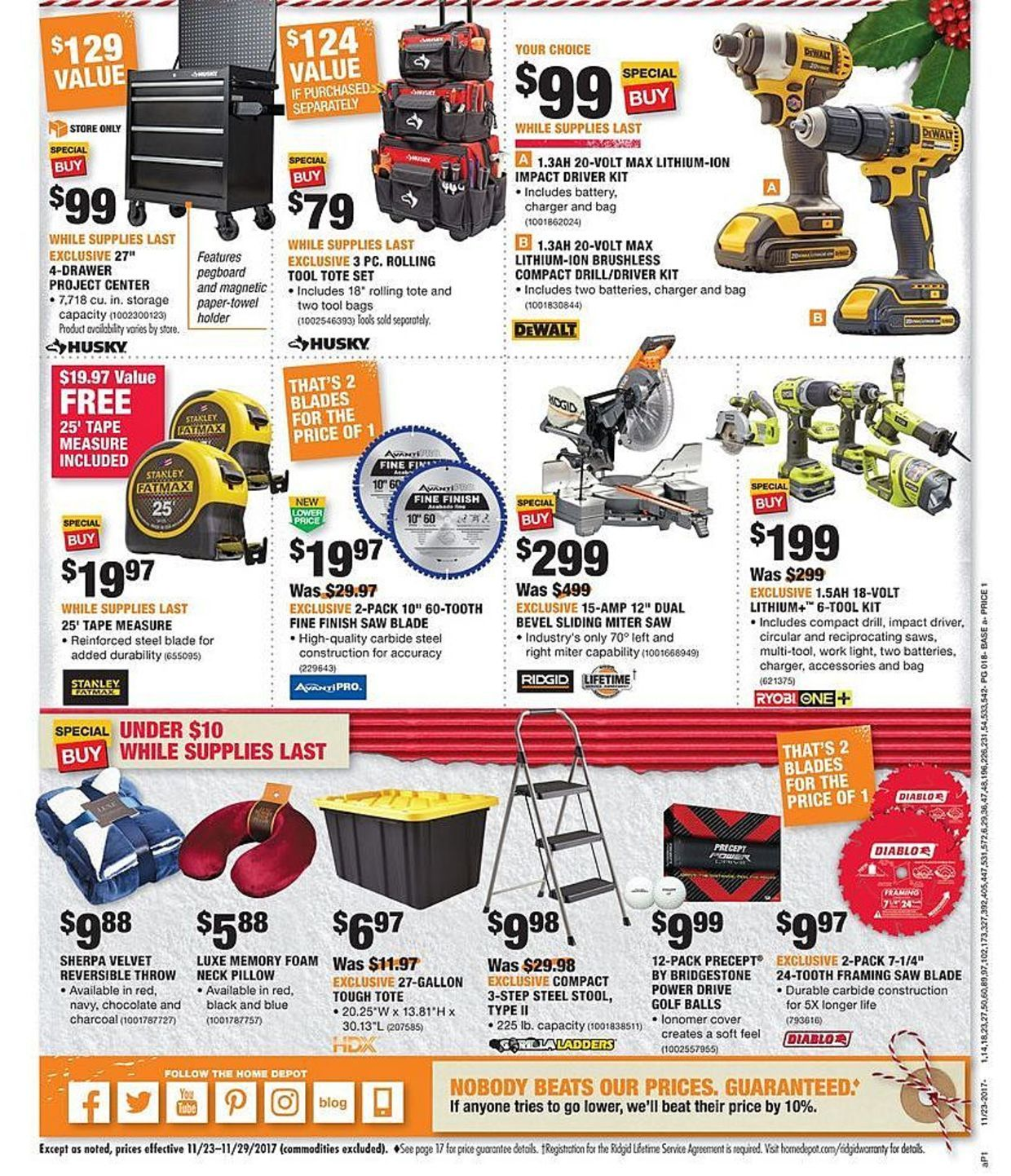 Home Depot Black Friday 2017 Ads And Deals As Usual Home