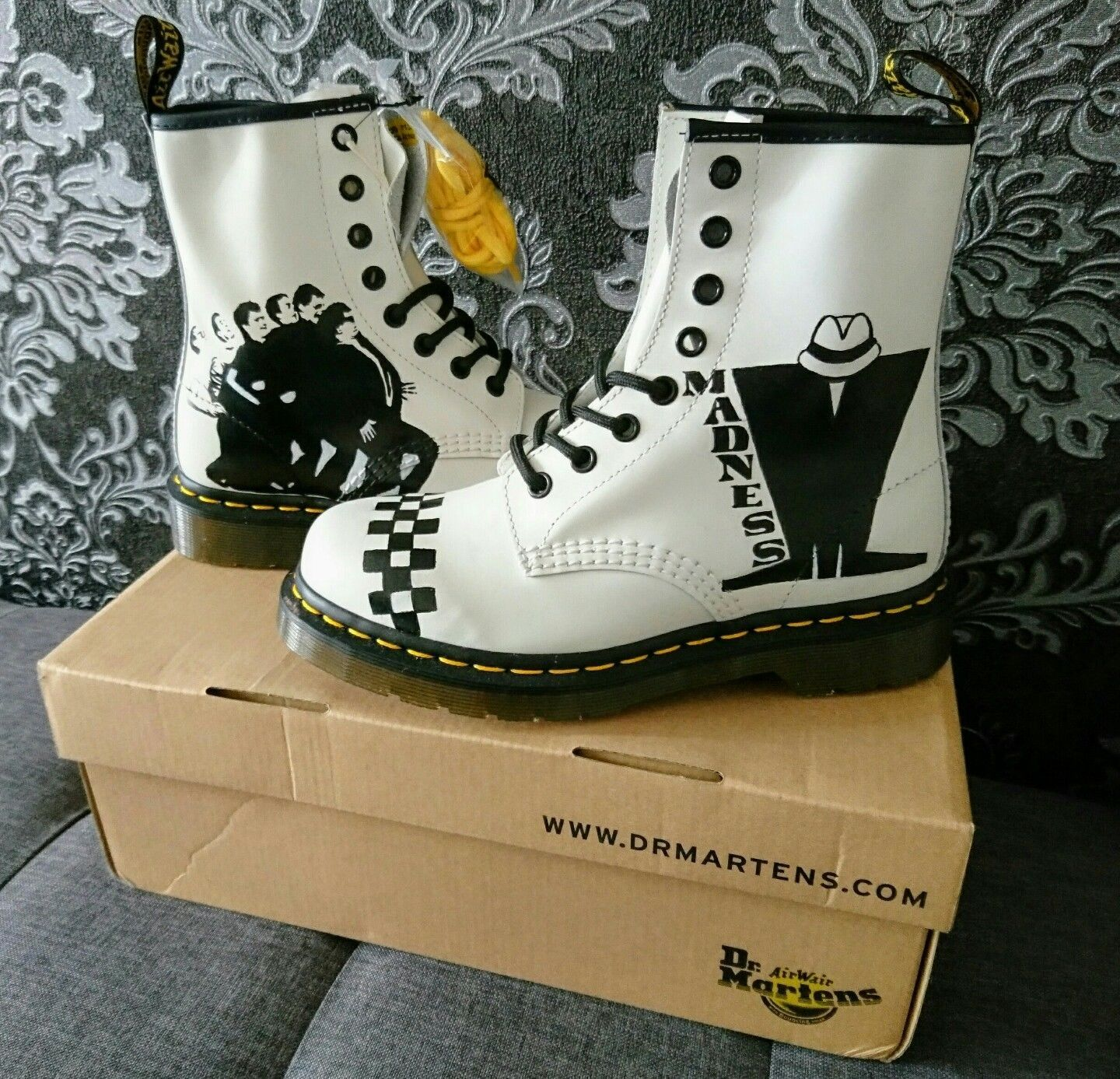 Custom Madness Dr Martens boots adult size 3 uk *brand new