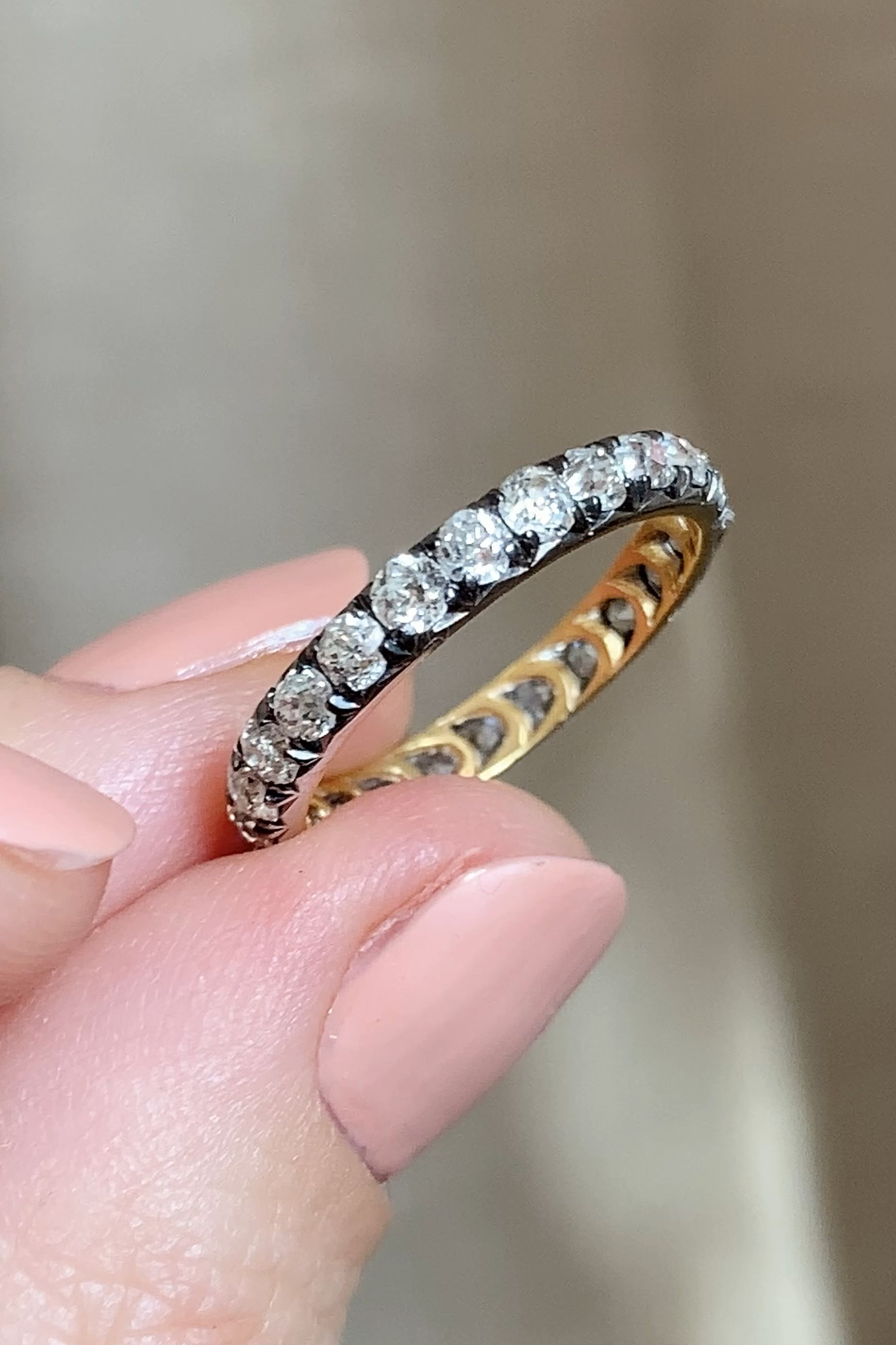 Details about  /18kt Gold 0.3ct Pave Diamond Play Sign Ring 925 Sterling Silver Fashion Jewelry