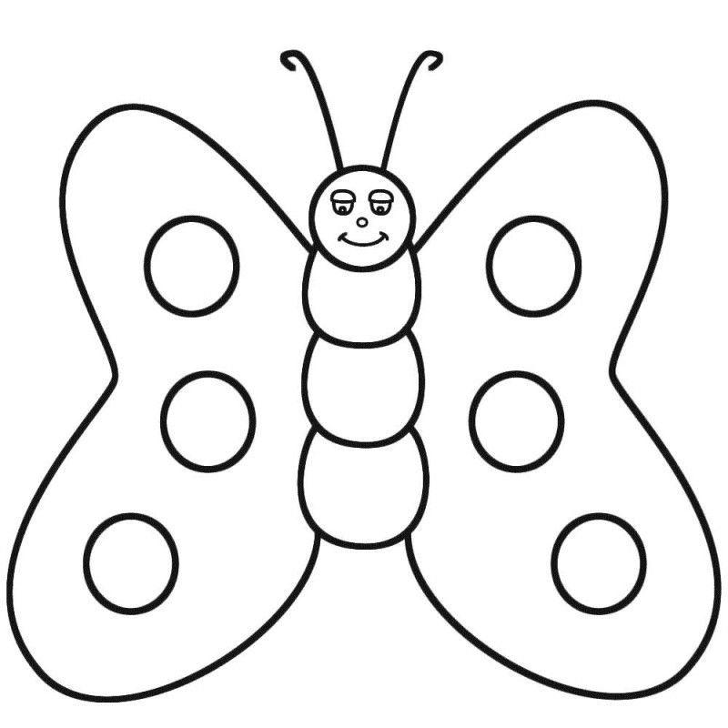 Butterfly Fatty Cute Coloring Pages