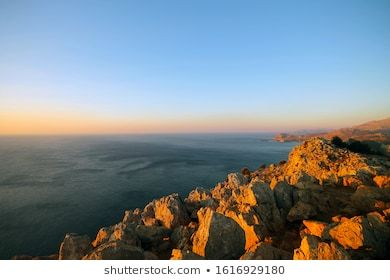 The View At A Mountain On Rhodes Background Bay Beach Beautiful Blue Coast Coastline Island Landscape Nature Ocean In 2020 Seascape Outdoor Views