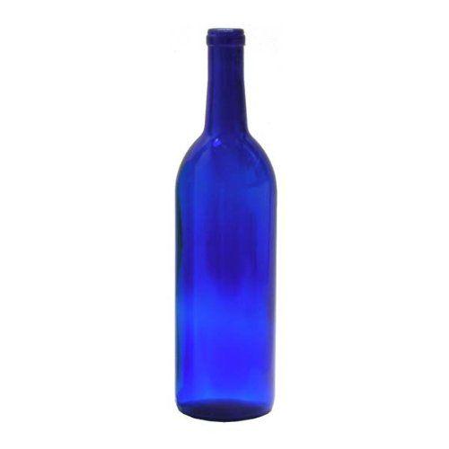 750 ml Cobalt Blue Glass Claret/Bordeaux Bottles, 12 per case Midwest…