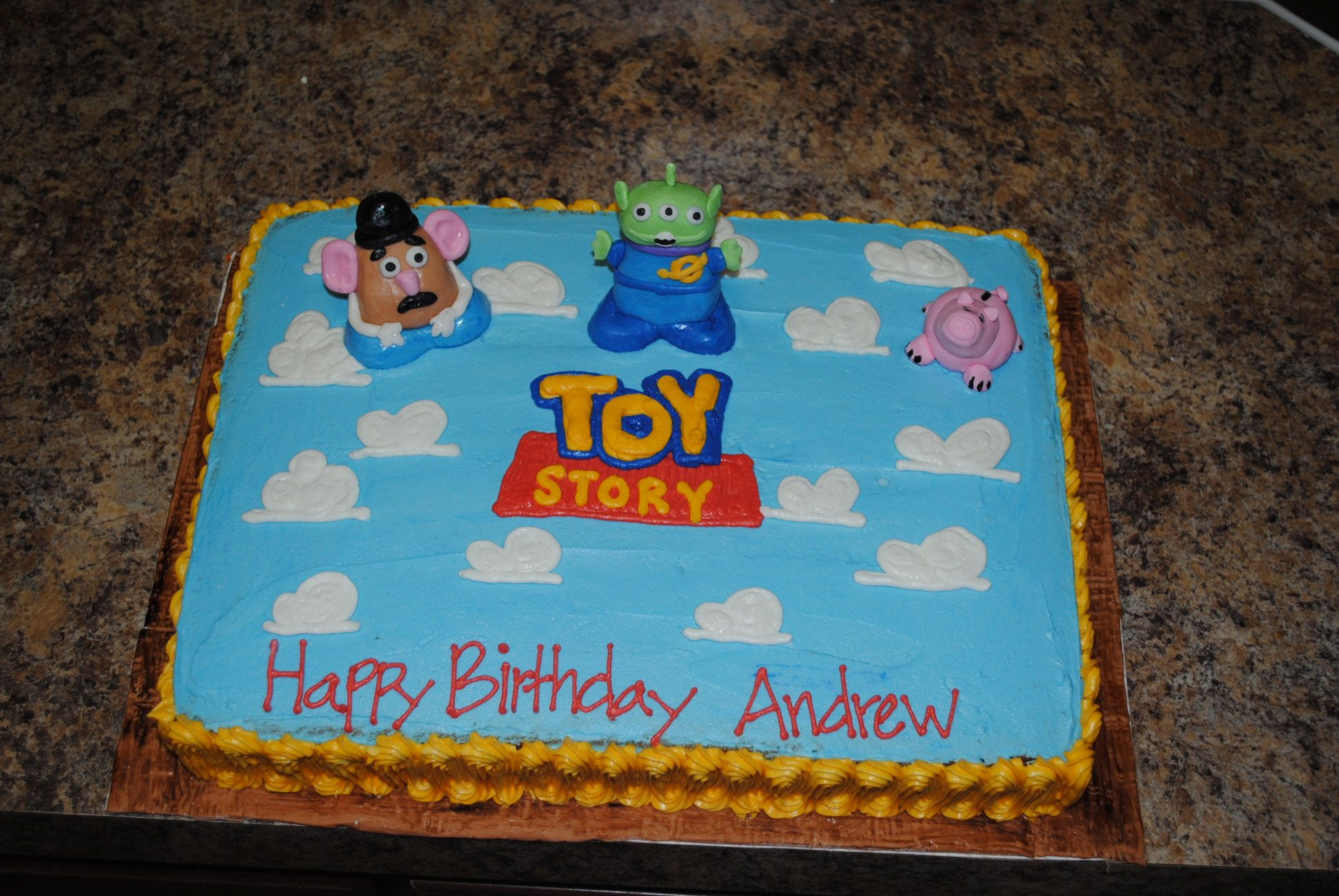 Toy Story Sheet Cake Buttercream Icing With Fondant Characters