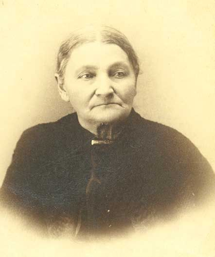 Zerelda Cole James Samuel (1825 – 1911).    Zerelda Cole James Samuel was the mother of the outlaw Jesse James.    [SHS 001138]
