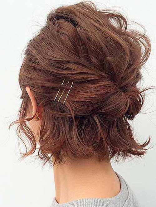 Half Updo Styles Can Be Accomplished With Blockhead Pins If You