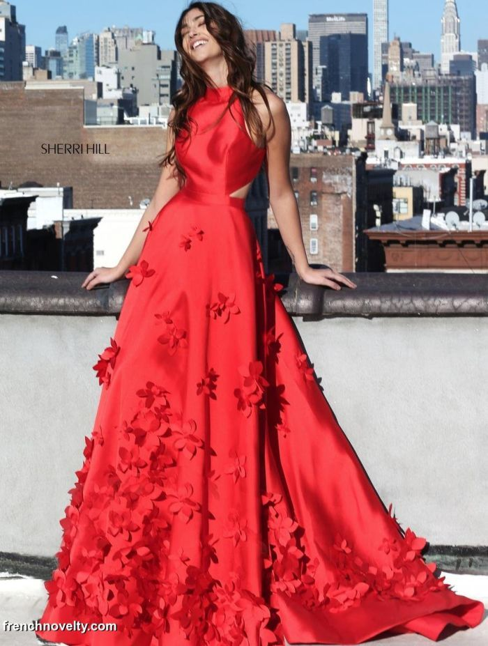 Sherri Hill 51116 Ball Gown with 3D Flowers