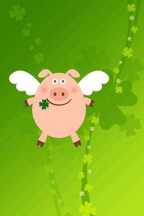 cerdito volador para la buena suerte n.n  Good Luck flying piggy