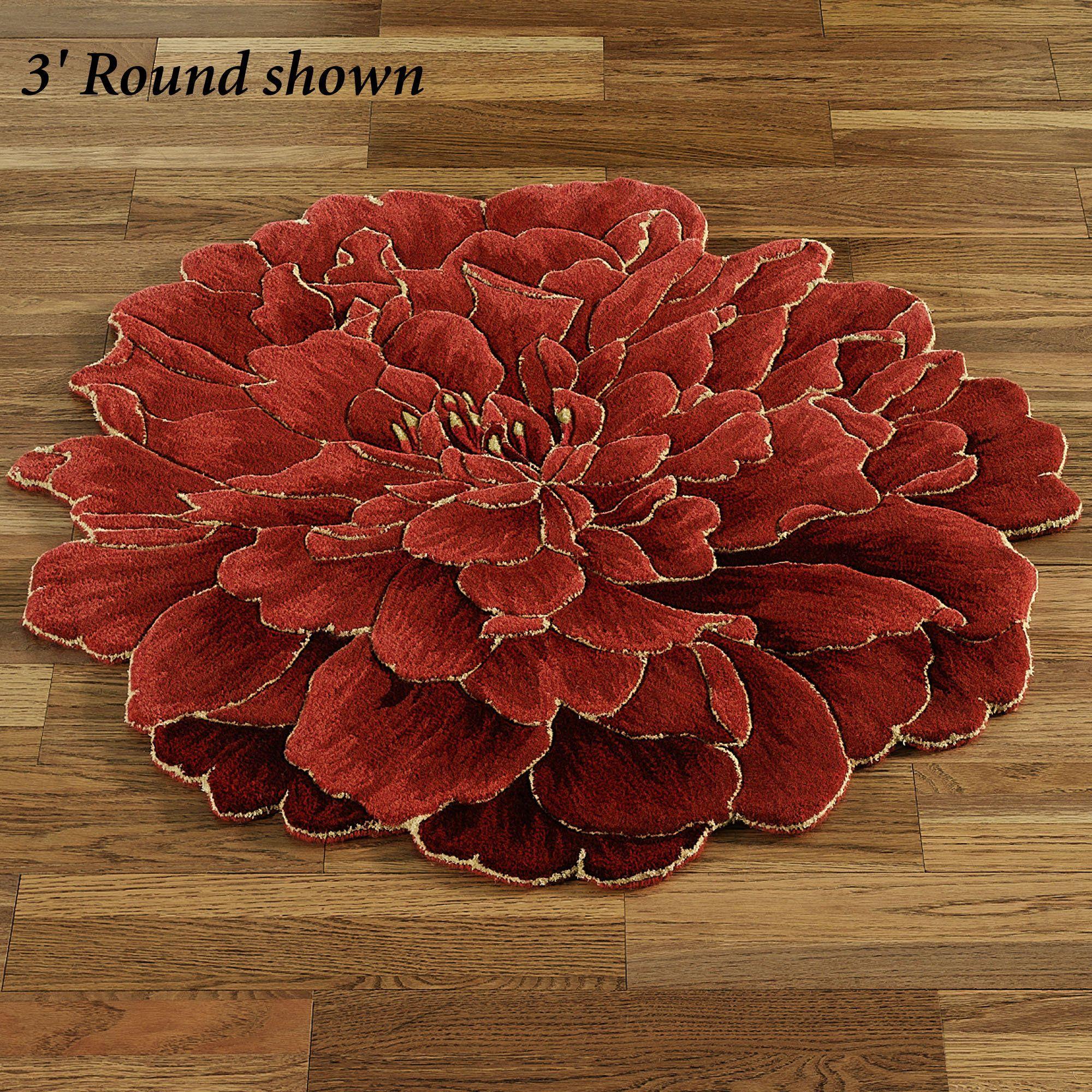 Neena Bloom Flower Shaped Round Rugs Les Fleurs