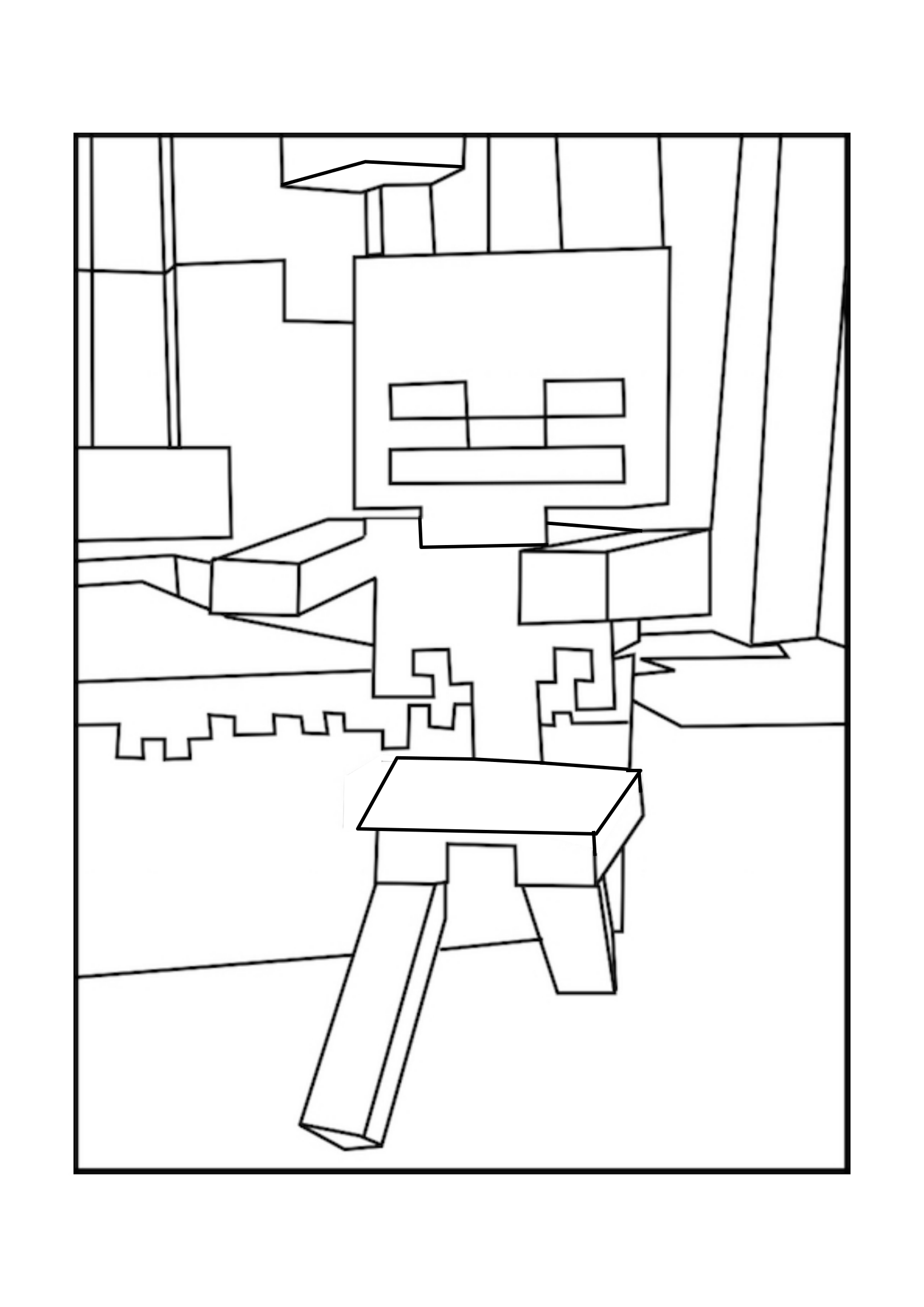 Skeleton Minecraft Coloring Pages Minecraft Coloring Pages Minecraft Skeleton Bee Coloring Pages
