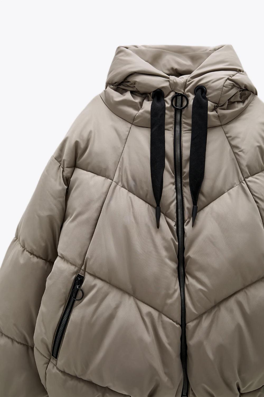 Water Repellent Puffer Jacket Zara United States Puffer Jackets High Collar Jacket Jackets [ 1500 x 1000 Pixel ]