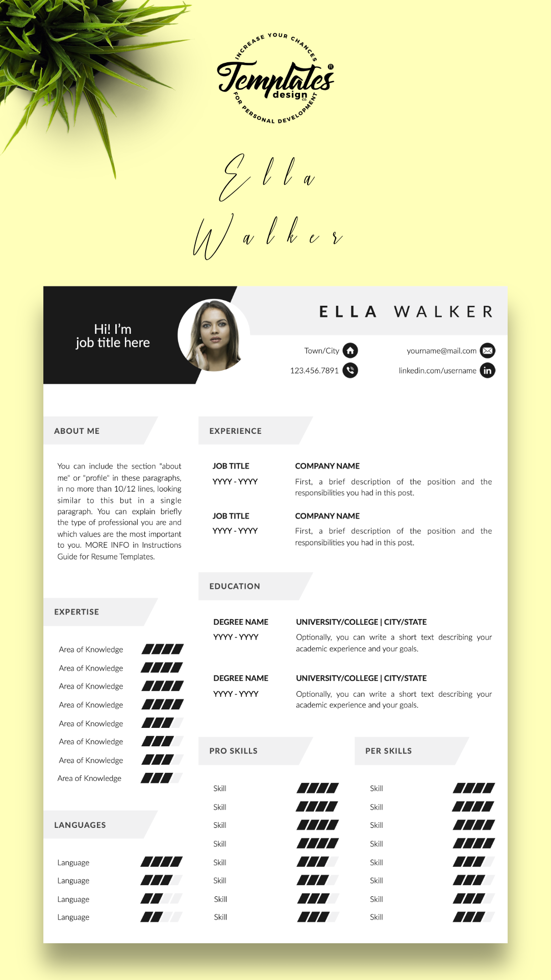 Creative Cv With Photo Cover Modern Resume Design For Word Pages Best Resume Template Etsy One Two And Three Page Resume Design Creative Resume Templates Modern Resume Design Resume Template