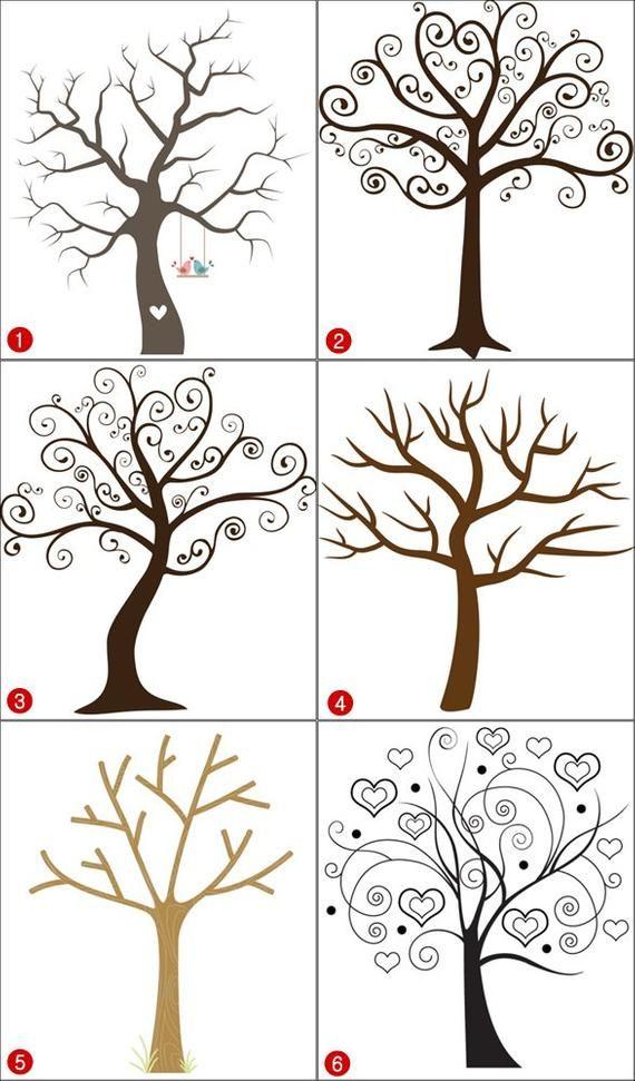 Baby Shower Fingerprint Tree Sign Guest Book Alternative | Etsy