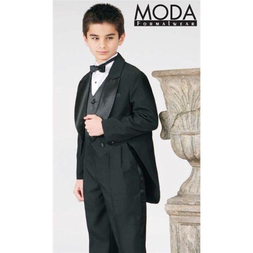 b8e22500b33 Boys TAILS Tuxedo BLACK Ring Bearer Infant Toddler Children Teen Tuxedos