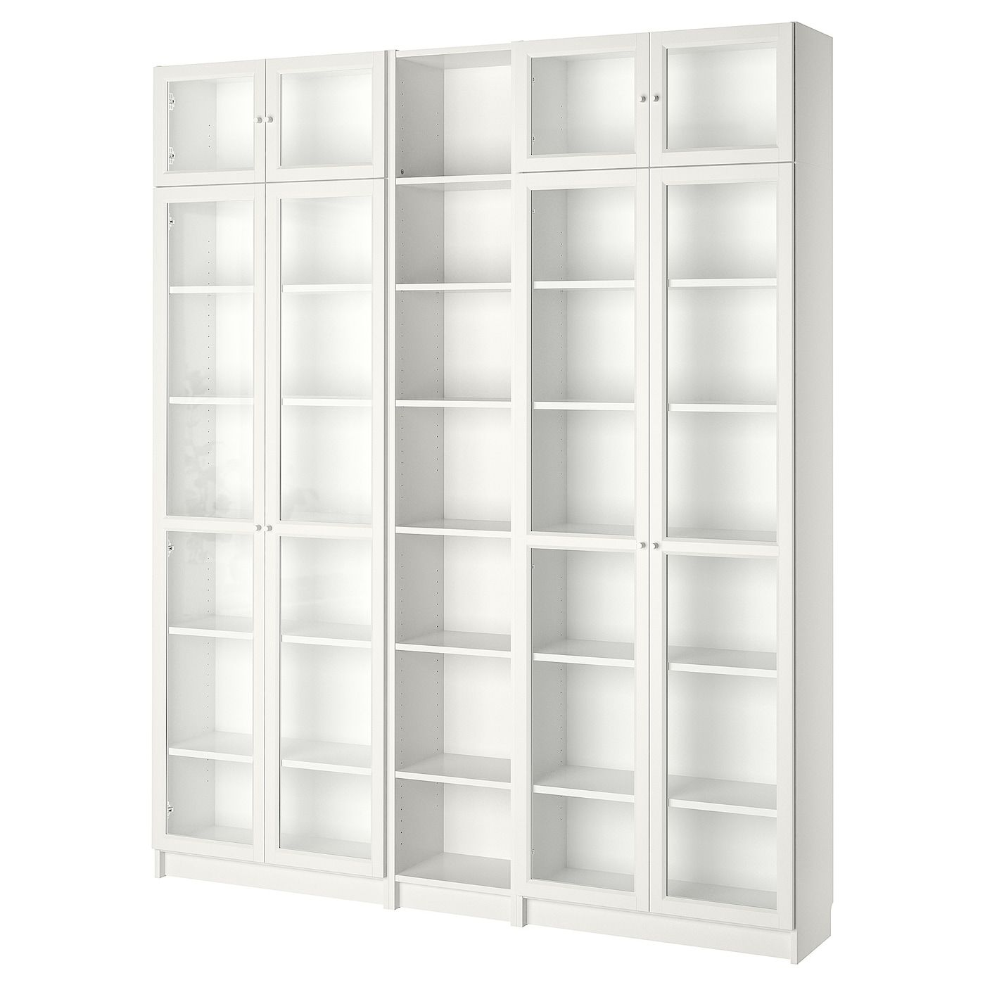 Billy Oxberg Bookcase White 78 3 4x11 3 4x93 1 4 Bookcase With Glass Doors White Bookcase Billy Bookcase