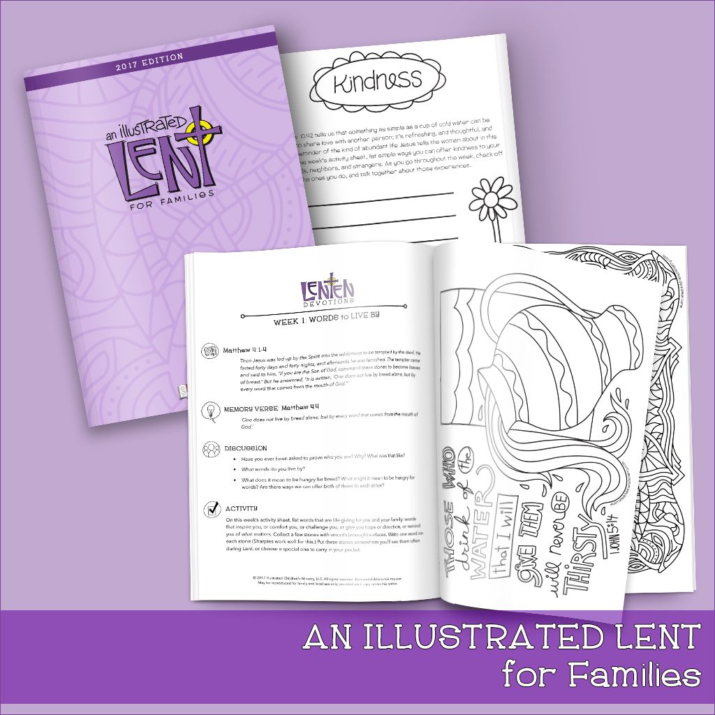 An Illustrated Lent For Families Devotionals Activity