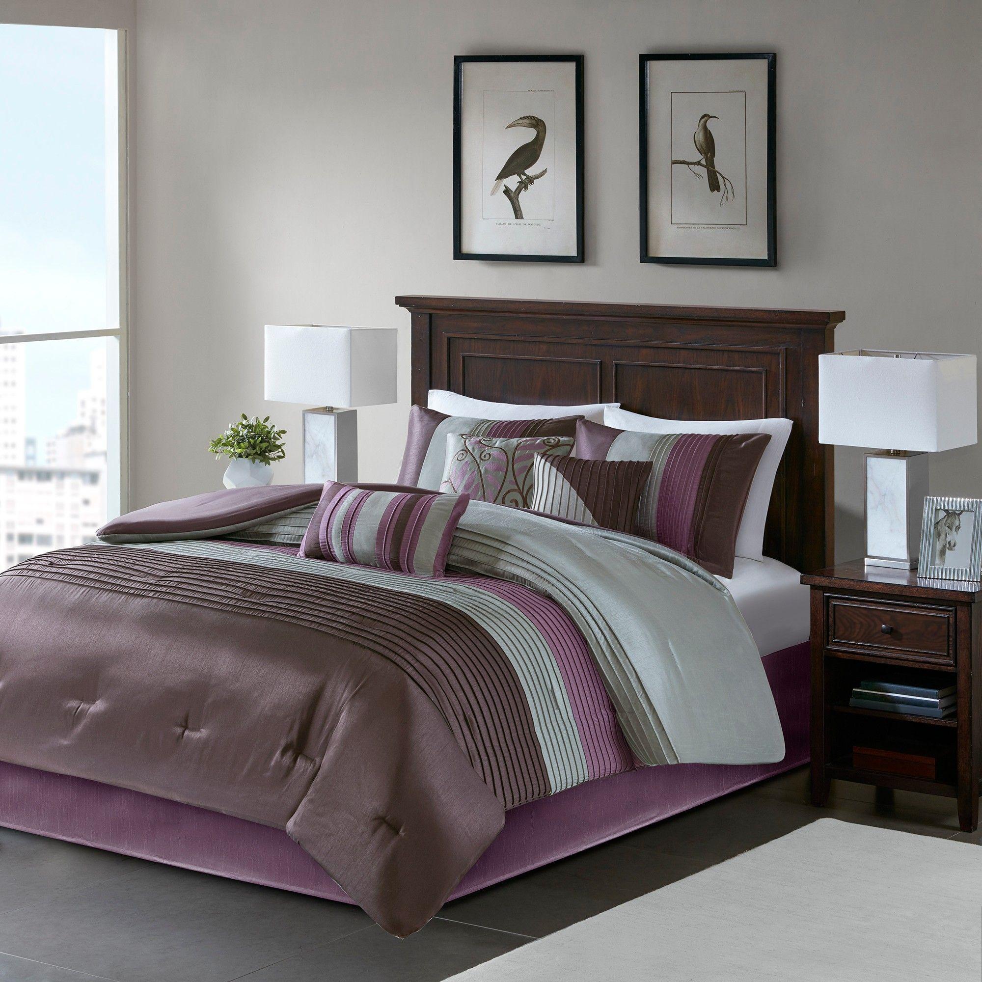 Salem 7 Piece Comforter Set Purple California King Comforter Sets Bed Comforter Sets Bed Comforters Purple california king comforter sets