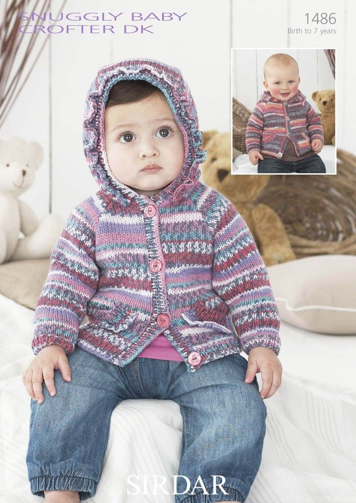Cardigan with or without a Hoodie in Snuggly Baby Crofter ...