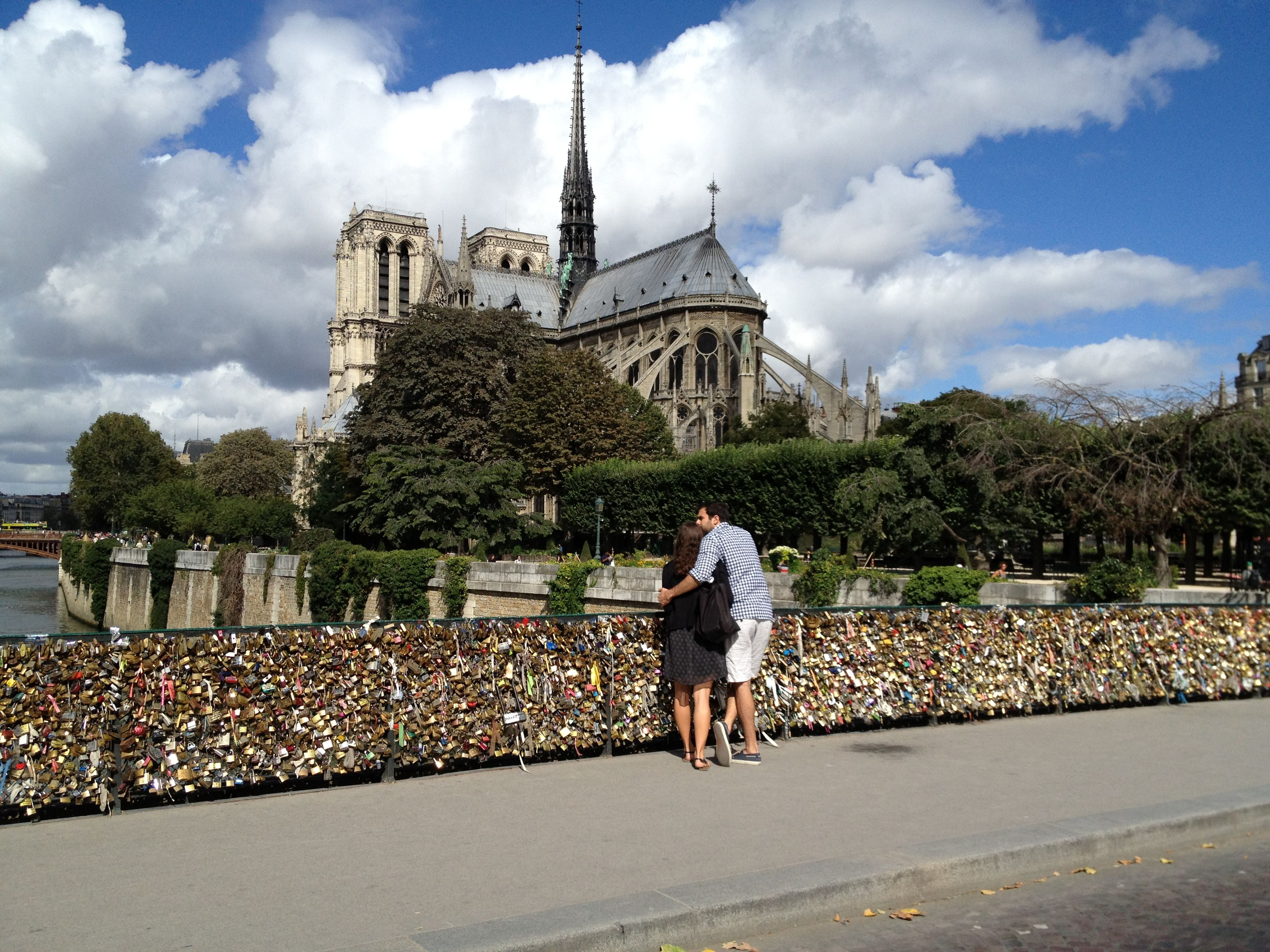 Love Locks, Pont des Arts Bridge. Paris France