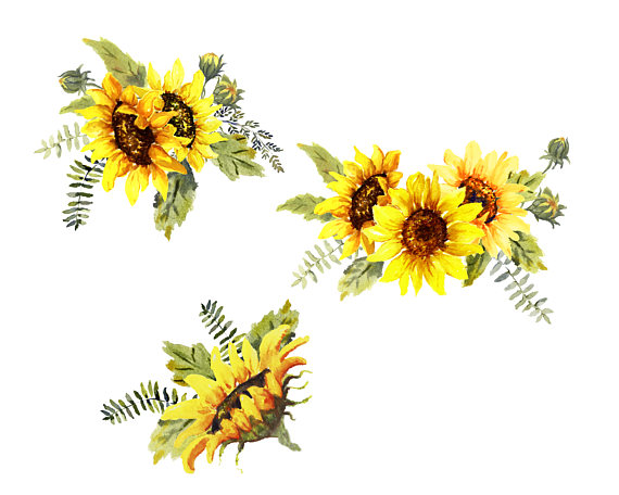 Sunshine and Flowers Clip Art