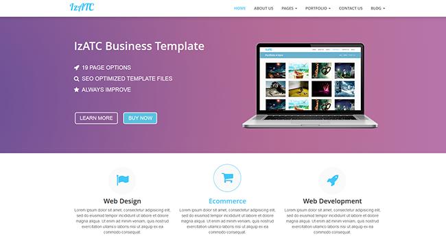 IzATC Business Template Bootstrap themes marketplace
