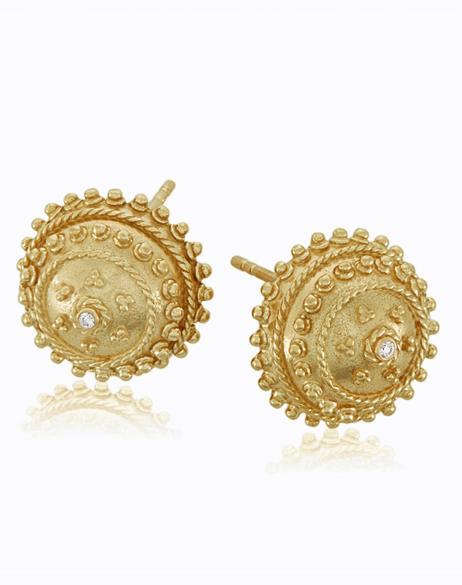 earrings gold large big stud references